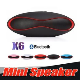 bolas de golfe futebol Desconto Mini X6 alto-falante Bluetooth mãos livres estéreo portátil falantes sem fio X6 V3.0 Áudio Leitor de MP3 Speakers Subwoofers