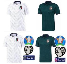 2020 maglia shaarawy 2019 ITALIA Coppa Europa di calcio Jersey 19 20 verde scuro CHIELLINI El Shaarawy BONUCCI INSIGNE Bernardeschi maglia shaarawy economici