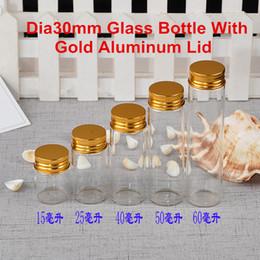 36 X Dia30mm Tornillo de oro tapa de aluminio Botellas de vidrio Tubo de sellado Tabaco de envasado de tabaco Envase al por mayor desde fabricantes