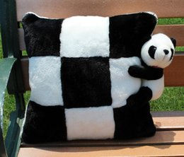 stuffed animal cushion Promo Codes - Panda Plush Cushion Cute Stuffed Animal Panda Soft Pillow Cushion Sofa Car Bedroom Chair Panda Home Decoration Creative Gift