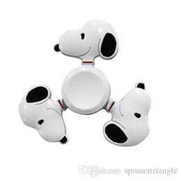 Neueste Metallzappeln-Spinner-Karikatur-nette Hundsnoopy-Handspinner für Dekompressions-Angst-Spielwaren mit Kleinkasten von Fabrikanten