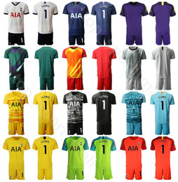 Name kits zahlen fußball online-Torwart GK Goalie 1 Hugo Lloris Trikotset Männer Hot Spur Fußball 13 Vorm 22 Gazzaniga Fußball-Hemd Kits Uniform Custom Name Nummer