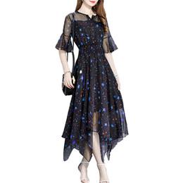 aa99b0b0175 2019 new printed chiffon irregular skirt summer women dress fashions free  shipping clothing ladies woman models for dresses wholesale