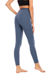 Pantalons mous femmes en Ligne-matériel nu pantalons de yoga doux femmes pantalons de yoga de haute taille sport leggings Porter Gym Fitness dame collants ensemble entraînement complet yogaworld