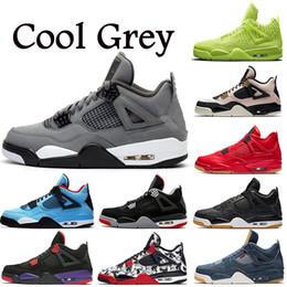 sapatos drake Desconto NIKE Air Jordan retro 4 4s Raptors Drake Travis Scott tênis de basquete homens puro dinheiro realeza branco gato preto raça vermelho mens formadores sports sneakers 5.5-13