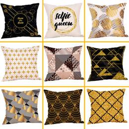 fundas de almohada hechas en casa Rebajas Funda de cojín geométrica de algodón de lino cuadrado decorativo para el hogar Throw Pillow Case Sofá Cintura Cushion Cover Housse de Coussin C30314