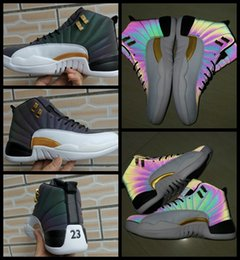Luce riflessa online-12 12s Chameleon 3M Reflect Flash Of Light Scarpe da Basket da uomo jumpman Scarpe da ginnastica Cestini sportivi Sneakers designer Zapatillas de baloncesto