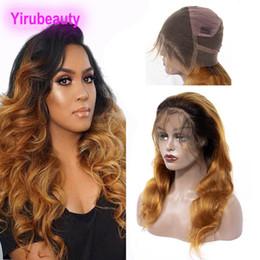 Pleine dentelle perruque ombre en Ligne-Cheveux vierges brésiliens 8-36 pouces 1B / 30 # Ombre Couleur Full Lace Wigs Body Wave 1B 30 Perruque en dentelle de cheveux humains Full Lace
