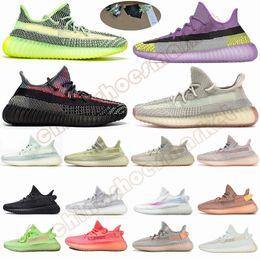 Mit Box Schlüsselanhänger Auf X yecheil yeehu Reflective Citrin Clound Weiß Kanye West Designer Sports Laufschuhe Glow Grün Schwarz-Turnschuhe von Fabrikanten