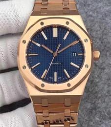 Bule acciaio online-orologi da uomo di design di lusso quadrante bule movimento meccanico automatico 15400 orologio da polso sweep in acciaio inossidabile 316 orologio di lusso