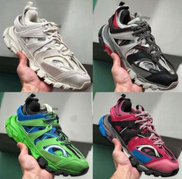 designer tracks for man Coupons - Triple S Clunky Sneaker Fashion Luxury Track 3.0 Shoes Newest Release 3 Tess Gomma Maille Shoes For Designer Men Women shoes