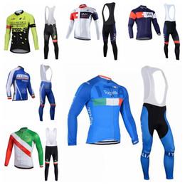 43c9a2232 Holowesko IAM ITALY team Cycling long Sleeves jersey bib shorts sets Bike  Wear Outdoor Sportswear men quick dry ropa ciclismo 013032F iam cycling  jerseys on ...