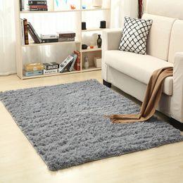 Soie bleu-vert en Ligne-Super doux tapis de laine de soie intérieur moderne Shag tapis tapis soyeux tapis chambre tapis de sol bébé pépinière tapis enfants tapis D19011201