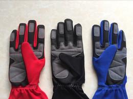 Lange blaue handschuhe online-2018Motorrad-Rennhandschuhe Lang bezieht sich auf die Handschuhe Schwarz Blau Rot 3 Farbe Größe M, L, XL