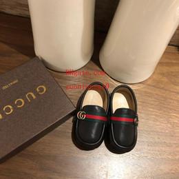2019 scarpe da bambino in pelle morbida 2019 scarpe bambino di marca in pelle nera morbida fondo morbido Quattro stagioni scarpe bambino bambino Toddler sneaker di alta qualità per bambini scarpe TF-5 scarpe da bambino in pelle morbida economici