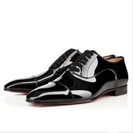 Vestido elegante ao ar livre on-line-Elegant Business Party Vestido De Casamento Greggo Orlato Flat, Moda Vermelho Inferior Oxfords Sapatos, Homens Ao Ar Livre Casual Sapatos De Caminhada