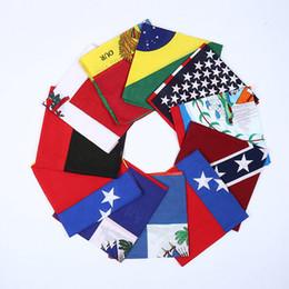 2019 bandera de ciclismo Bandera mágica Bufandas multifuncional Ciclismo al aire libre Máscaras Bufanda Mágica Turbante Protector solar Banda para el cabello Equitación Cap 10 estilos 12 unids / lote RRA1628 rebajas bandera de ciclismo