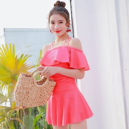 c62b7ef800884 Swimming suit ladies conservative one-piece swimsuit with belly-soaking hot  spring skirt