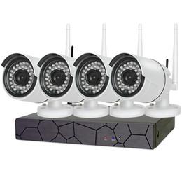 Nouvelle Maison Sans Fil CCTV Caméra de Sécurité Système 4CH 720P NVR 1.0MP IR Extérieur P2P Wifi IP Surveillance Intempéries Kit Intégré 1 To HDD ? partir de fabricateur