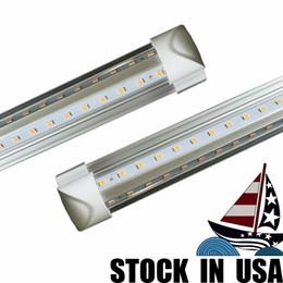 2019 cree teile Kostenloser Versand 2FT. 3FT. 4FT. 5FT. 6 FUSS. 8FT. LED Tube Lights T8 Integrierte Lampe mit Teilen V-förmigen 270 Winkel 85-277V Cooler Shop Lichter günstig cree teile