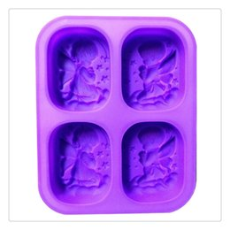clay mold shapes Promo Codes - Angel Shaped Silicone Mold Cake Decorating Making Candy Fondant Clay Soap Suitable For Making Fondant cake chocolate