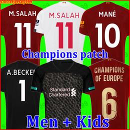 Liverpool Camiseta de fútbol de 2019 2020 chandal de fútbol 19 20 M. Salah VIRGIL MANE FIRMINO KEITA MILNER SHAQIRI uniformes portero hombres niños soccer jersey de la desde fabricantes