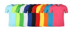 Costume diy camiseta on-line-Fãs ao ar livre DIY Tops Tees gola redonda esportes de manga curta de secagem rápida camiseta personalizado camisa de publicidade atividade personalizada desgaste impressão atacado