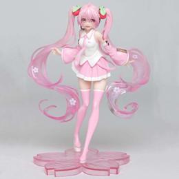 signore squilli cifre Sconti Vendita calda 18 centimetri anime pink Hatsune Miku Sakura azione PVC Figure Giocattoli per i regali dei bambini dei capretti di Natale Doll