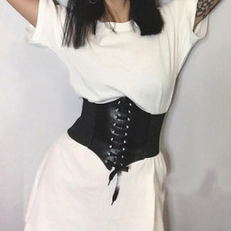 cintos de corset de moda larga Desconto Mulheres Super cintos largos de couro PU Elastic espartilho moda cinto largo cinto Ladies Clothing accesoories Feminino Vestido Cintura