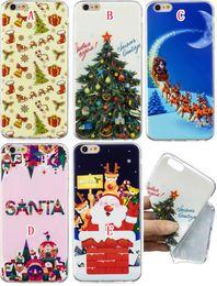 2019 natal iphone santa Natal macio TPU Case para Iphone 11 Pro X XS Max XR 8 7 6 6S presente Mais 5 5S SE neve Merry Xmas Papai Noel cervos Árvore Moda tampa da pele natal iphone santa barato