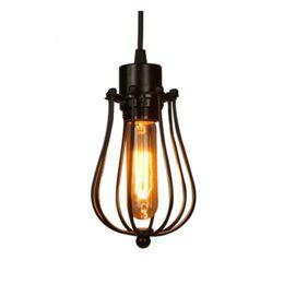 2019 lâmpada pingente de flor branca gaiola lustre antigo Edison lâmpada sotão Restaurante Quarto LED Pendant indústria de iluminação Lâmpadas de ferro do vintage para casa