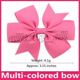 Fermagli per capelli bowknot Swallowtail Archi grips bambini Ragazze Solid Hair Clips Accessori per capelli Kids 40 colori Barrettes da