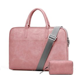 Macbook pro 15.4 ноутбук онлайн-13.3 14 15.4 15.6 inch PU Laptop Shoulder Bag for Macbook Air Pro 13 15 Laptop Sleeve Case Cover for Xiaomi Lenovo Women Bags
