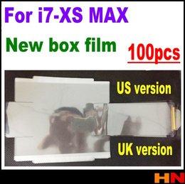 Caja de embalaje de apple iphone online-100 unids Frente Volver Sellado Plástico Protector de Pantalla de Fábrica Protector de Pantalla para iPhone XS MAX XR X 7 8 más caja de embalaje cajas de sello de película de embalaje