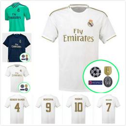 Uniforme real de madrid online-2019 Real Madrid camiseta de fútbol local 19 20 Real Madrid Hazard away camisa azul de fútbol MODRIC ASENSIO VINICIUS JR ISCO KROOS Uniforme de fútbol