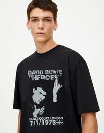 David Bowie T Shirt 1978 World Tour Nouveau Officiel Vintage Homme