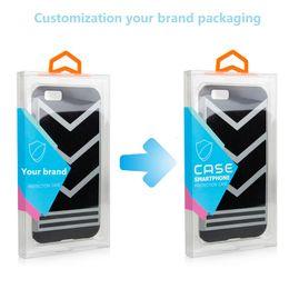 Personalize o caso iphone on-line-Caixa universal do pacote de varejo da caixa do telemóvel do PVC para o X Xs Xs 8 mais embalagem positiva de Samsung LG Huawei Etc.Cover