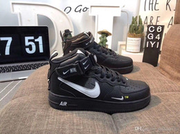 nike air force 1 one 2019 Barato 1 Utility Classic Black White Dunk Hombres Mujeres Zapatos casuales red one Sports Skateboard High Low Cut Wheat Zapatillas de deporte 6-11 desde fabricantes