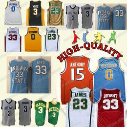 new style b6b46 3f221 NCAA High School Basketball trägt 23 LeBron James Trikot Kobe 33 Bryant 3  Wade 3 Iverson 0 Westbrook 15 Anthony Trikots günstig lebron 15