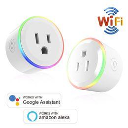 lichtsteuerung Rabatt WiFi Mini Smart Plug Kabellose Smart-Steckdose mit Nachtlicht-Timer-Funktion Gerätefreigabe ohne Hub Benötigte APP-Fernbedienung von überall