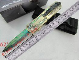2019 envío gratuito de cuchillos automáticos. Cuchillo automático Abalone Shell Doble Acción A07 D07 A162 Caza Bolsillo plegable Supervivencia Cuchillo envío gratis envío gratuito de cuchillos automáticos. baratos