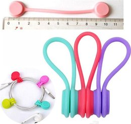 3pcs Magnetic Headphone Earphone Cord Winder Wrap Organizer Cable Tie Holder FD