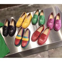 2019 lettere colore misto scarpe basse in vera pelle donna signore gelatina colori muli scarpe fannullone stampa donna sandali in pelle 35-40 supplier flat slippers for ladies da ciabatte piatte per le signore fornitori