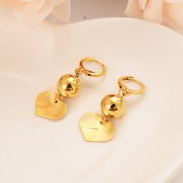 24k placcato oro cuore palla rotonda intarsiato con dubai indiano gioielli palla gioielli da sposa orecchini regalo di fidanzamento regalo di fidanzamento da monili indiani placcati in oro 24k fornitori