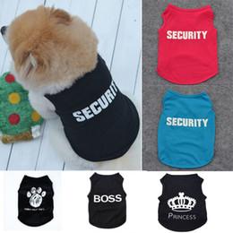 Hund sommer overalls online-Sommer-Hundekleidung-Kleid Katze Weste New Small Pullover Pet Versorgung Karikatur-Kleidung T-Shirt für Welpen Günstige Overall Outfit DHL WX9-1711