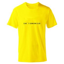 Chemises jaunes en Ligne-T Shirt Hommes Tshirt O Col Rond De Haute Qualité T-Shirt Hommes Garçons Jaune D'été Chemises Cartoon avec Logo Taille XS-2XL