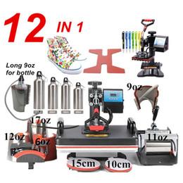 máquinas plc Desconto 12 em 1 máquina da imprensa do calor da combinação, sublimação / imprensa do calor, máquina da transferência térmica para a caneca / tampão / Tshirt / casos do telefone / pena / sapata / bola