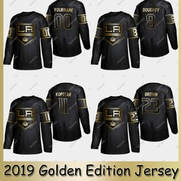 roi personnalisé Promotion 2019 Golden Edition LA Los Angeles Kings Jersey Anze Kopitar Dustin Brown Drew Doughty Jonathan Quick Kuemper Chandails de hockey sur mesure