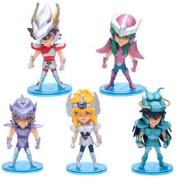 Seiya insieme di 5 pezzo figura mini costellazione Fighter da piante vs zombie giocattoli all'ingrosso fornitori