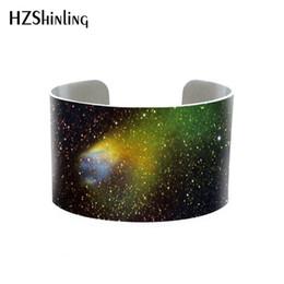 2019 fuchspelzmanschetten Silber Aluminium Astronomie Listen Fox Fur Nebula Todesser Armreif Astral Geometrie Manschette Constellatio Sternzeichen Schmuck handgefertigt rabatt fuchspelzmanschetten